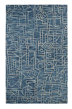 Dynamic Rugs Dream 2665 Area Rug Blue/Navy / x Rectangle, White Contemporary Area Rugs, Modern Rugs, Mid-century Modern, Dynamic Rugs, Rugs Usa, Op Art, Throw Rugs, Blue Area Rugs, Shades Of Blue