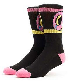 ed291f929631 Odd Future Donut Black Crew Socks Odd Future Socks