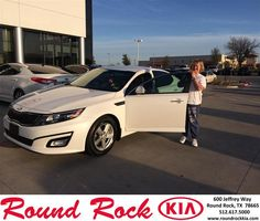 #HappyAnniversary to Donna Dickerhoff on your 2014 #Kia #Optima from Todd Estes at Round Rock Kia!