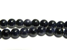 Round Blue Goldstone Gemstone Beads 6mm by KolibriBeadSupplies
