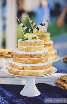 Lemon-Blueberry Naked Cake
