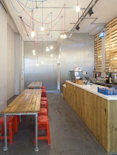GRAB Thai Street Kitchen by Mansikkamäki+JOY - Shoreditch. Amazing pop up design.