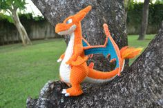 Hi folks!I hope you all are doing fine ^-^ Today's pattern is pokemon related, specifically with the last pokemon game that was launched, pokemon . Mega Charizard Y amigurumi Pokemon Crochet Pattern, Crochet Toys Patterns, Amigurumi Patterns, Stuffed Toys Patterns, Crochet Dolls, Amigurumi Doll, Knitting Patterns, Mega Charizard, Crochet Dragon