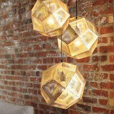 New Tom Dixon Etch Pendant Lamp Hanging Light Chandelier Diameter Multi Light Pendant, Pendant Light Fixtures, Pendant Lighting, Pendant Lamps, Brass Pendant, Chandelier Art, Modern Chandelier, Tom Dixon, Cheap Lamps