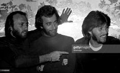 Maurice Gibb, Robin Gibb and Barry Gibb of The Bee Gees