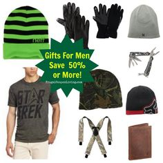 Stocking Stuffers – Perfect Gifts for Him or Men- save up to 50 off with savings #giftguide #christmas
