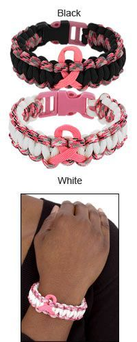 Pink Ribbon Paracord Bracelet at The Breast Cancer Site