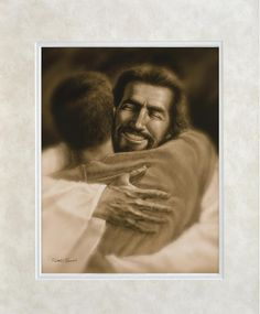 This is one of my favorite pictures on chirst, in all other pictures Jesus has a serious face or a part smile, I don't see him that way I see him with a bright smile and arms open wide welcoming us home. Jesus Art, Jesus Christ, Lds Art, Cool Captions, King Jesus, David, Jesus Pictures, Wood Plaques, Picture On Wood