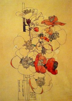Charles Rennie Mackintosh, Japonica, Chuddingstone,1910