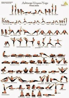 Great cheat sheet for those who seek to complete their Ashtanga primary series!