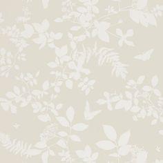 Schumacher - Shadow Vine Bone wallpaper