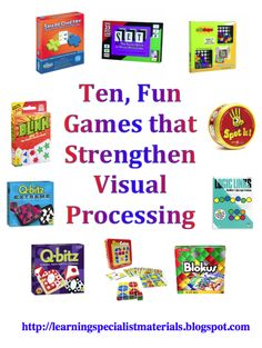 Come read about 10 fun games that strengthen visual processing skills! from Learning Specialists.com