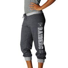 My #Fanatics Sweepstakes Entry. Oakland Raiders Ladies Sport Princess II Heather Fleece Cropped Pants - Charcoal