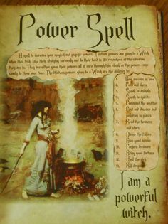 Power Spell by Isis Chandler by PaganScrapbookSupply on Etsy, $6.49
