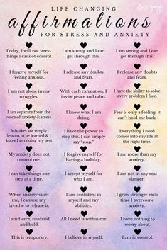 When feeling anxious, it feels like your mind is completely out of your control. However, I've found that by actively using these affirmations for stress and anxiety, I've been able to fix my relationship with my own mind. Positive Affirmations Quotes, Self Love Affirmations, Affirmation Quotes, Prosperity Affirmations, Money Affirmations, Morning Affirmations, Vie Motivation, Self Care Activities, Self Improvement Tips