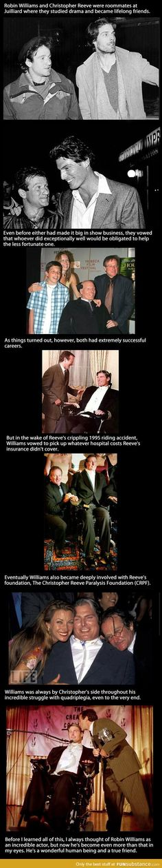 Funny pictures about Robin Williams Was A True Best Friend. Oh, and cool pics about Robin Williams Was A True Best Friend. Also, Robin Williams Was A True Best Friend photos. Robin Williams, Christopher Reeve, We Are The World, In This World, I Look To You, Rasengan Vs Chidori, Faith In Humanity Restored, Good Will Hunting, After Life