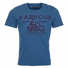 New for 2016 Barbour International Tunnel T-Shirt - Chambray Blue Barbour Mens, Barbour International, Heritage Brands, Chambray, Fashion Forward, Suits, Mens Tops, T Shirt, Blue