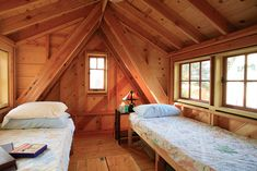 This is the kind of space two shed dormers can add to a small loft.