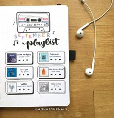 If you haven't started a playlist spread yet in your bullet journal, now's the time! Here are some playlist spreads for inspiration! - 22 Best Playlist Spreads for 2020 Bullet Journal Tracker, Key Bullet Journal, Bullet Journal Banner, Bullet Journal Writing, Bullet Journal Aesthetic, Bullet Journal School, Bullet Journal Spread, Bullet Journal Months, Bullet Journal Bookshelf