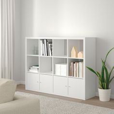 huguescoupart - 0 results for bedroom ideas Ikea Kallax Shelf Unit, Ikea Shelves, White Shelves, Shelving Units, Kallax Insert, Ikea Book, Cube Storage Unit, Storage Organizers, Storage Cubes