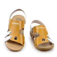 Summer New Designer Gold Sandals Men Patchwork Shoe Sandles Male Slides Sapatos Dark Blue Brown Size 38 to 44
