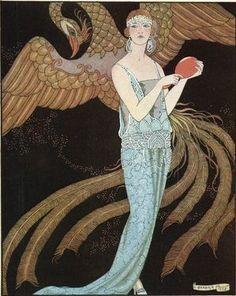 George Barbier, 1920's art deco fashion
