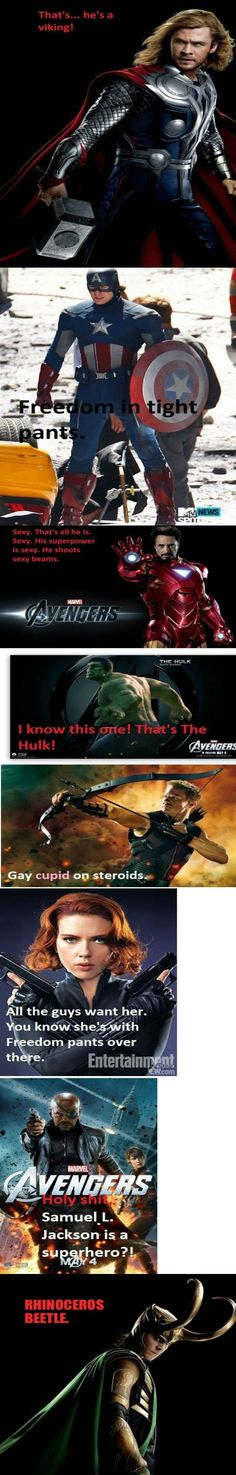The Avengers According To My Mom
