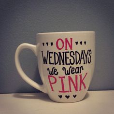 On+Wednesdays+we+wear+pink+by+sarahmarie28+on+Etsy,+$14.00