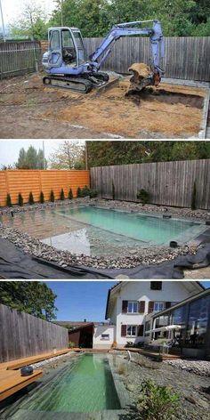 garten teich Build the swimming pond yourself: 13 fairytale design ideas -