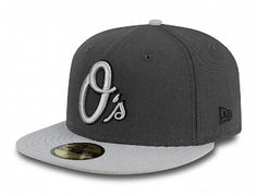 best website 309f2 7fd11 Custom Baltimore Orioles Charcoal-Grey 59Fifty Fitted Baseball Cap by NEW  ERA x MLB Fitted