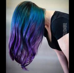 @PrettyLittleOmbre chose a very appropriate name for her Instagram handle, because this is QUITE a pretty little ombre! This talented hair stylist used Manic Panic in Atomic Turquoise, Rockabilly Blue, and Electric Amethyst for the color melt of your dreams.