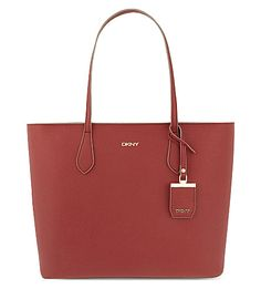 DKNY Structured Saffiano Leather Tote. #dkny #bags #leather #hand bags #tote #