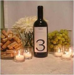 XTR-124 Bottle of wine table number