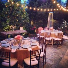 Gorgeous set up for dinner party for a bridal shower