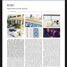 Thank you so so much for the support and all the very kind words Bazaar Kuwait. #ecru #magazine #interview #kuwait #bazaar