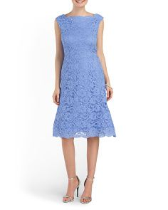 image of All Over Lace Cocktail Dress