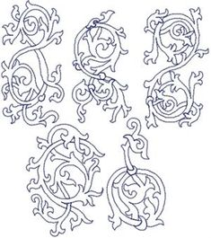 Advanced Embroidery Designs. Several medieval patterns and needlework