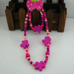 Lindo de la joyería hecha a mano joven! sistema de la joyería encantadora chilren/niño/bebé/conjunto de collar pulsera joyería de Moda N CS25