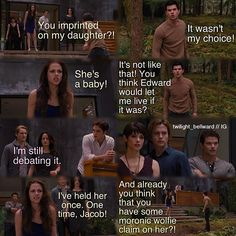 Bella yelling at Jacob