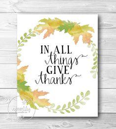 Typography    https://www.etsy.com/listing/160573969/autumn-wall-art-thanksgiving-printable
