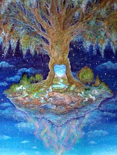 """Heart of the Tree 1"" par Josephine Wall"