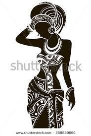 """Find """"african woman silhouette"""" stock images in HD and millions of other royalty-free stock photos, illustrations and vectors in the Shutterstock collection. Arte Tribal, Tribal Art, African American Art, African Women, Doodle Art Drawing, Art Drawings, Silhouette Vector, Woman Silhouette, Silhouette Images"""