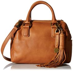 Lucky Brand Jordan Leather Mini Satchel Convertible Cross Body Bag, Tobacco, One Size >>> You can get additional details at the image link.