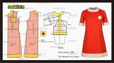 Mary Quant dress, and resume of Mary Quant and her work