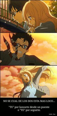 Frases del anime shigatsu wa kimi no uso by touka kun