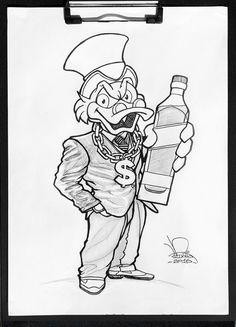 Character Design do Tio Patinhas Stencil Art, Stencils, Dagobert Duck, Gangsta Tattoos, Weird Drawings, Uncle Scrooge, Cartoon Tattoos, Skull Tattoo Design, Chicano Art