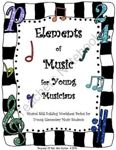 Elements Of Music for Young Elementary Musicians Activity Worksheet Packet from Mrs.Kuchta's Corner, An Elementary Music Wonderland on TeachersNotebook.com -  (14 pages)  - This PDF file contains fun and engaging worksheets that will help strengthen and test your young elementary music students' knowledge of basic beginning music elements such as high sounds vs. low sounds, fast and slow tempos, and loud vs. soft dynami