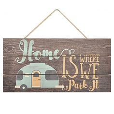 Home Is Where We Park It Wooden Plank Sign *** See this great product. (This is an affiliate link) Mdf Wood, Wood Planks, Small Luxury Cars, Camping Signs, Camping Guide, Camping Games, Camping Ideas, Home Decor Sets, Decorative Signs