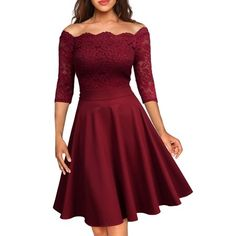 MissMay Women's Vintage Floral Lace Half Sleeve Boat Neck Cocktail Formal Swing Dress Spaghetti Straps Long Simple Prom Dress with Split Party Dress Plus Size Maxi Dresses, Short Sleeve Dresses, Formal Dresses, Evening Dresses, Long Sleeve, Tea Dresses, Lace Dresses, Cocktail Dresses, Bridal Dresses