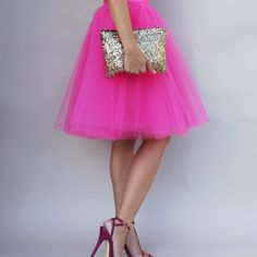 Christmas OOTD : pink tulle skirt from www.space46boutique.com